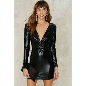 Makers of Dreams Black Bold Sheen Liquid Dress S